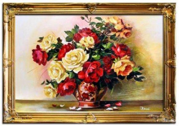 Ölgemälde Barock Bild Bilder Gemälde Ölbilder Ölbild Bilderrahmen Rahmen G05299