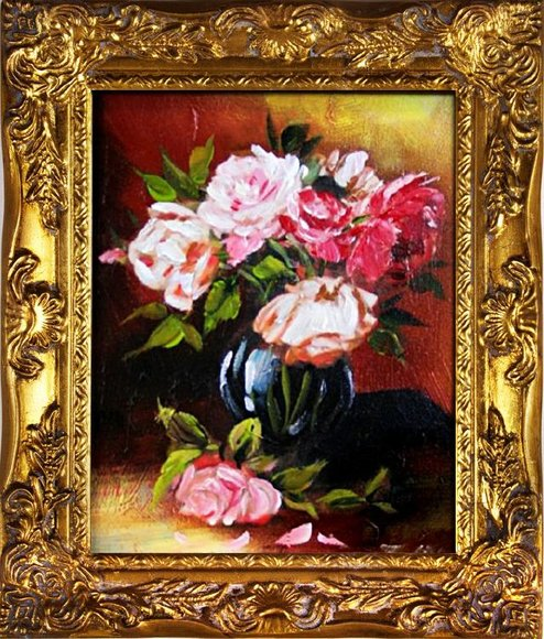 Ölgemälde Barock Bild Bilder Gemälde Ölbilder Ölbild Bilderrahmen Rahmen G01470