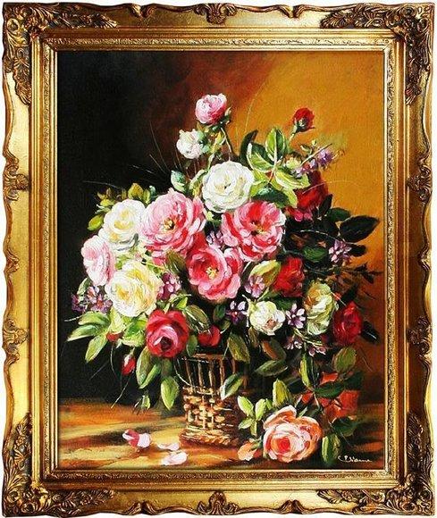 Ölgemälde Barock Bild Bilder Gemälde Ölbilder Ölbild Bilderrahmen Rahmen G01825