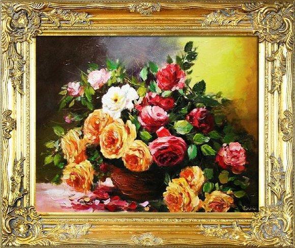 Ölgemälde Barock Bild Bilder Gemälde Ölbilder Ölbild Bilderrahmen Rahmen G01480