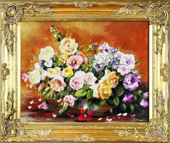 Ölgemälde Barock Bild Bilder Gemälde Ölbilder Ölbild Bilderrahmen Rahmen G01755