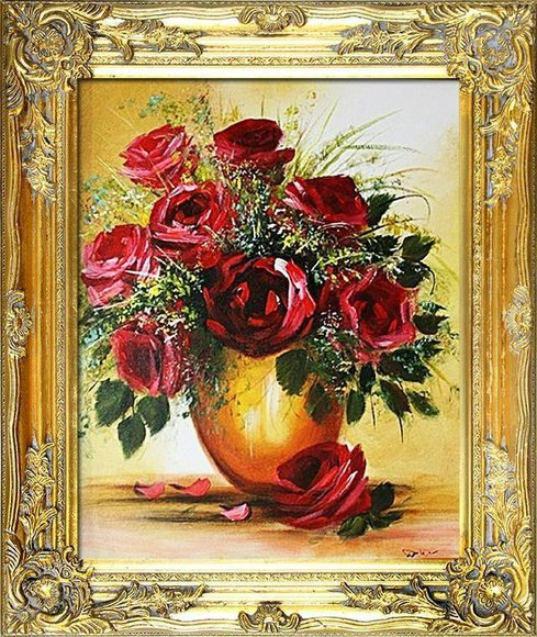 Ölgemälde Barock Bild Bilder Gemälde Ölbilder Ölbild Bilderrahmen Rahmen G01011