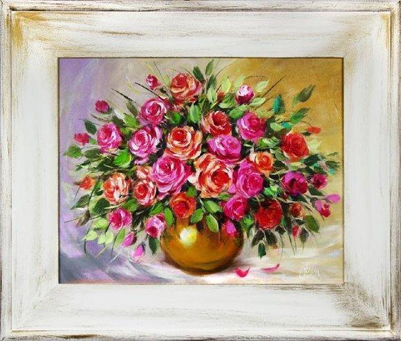 Ölgemälde Barock Bild Bilder Gemälde Ölbilder Ölbild Bilderrahmen Rahmen G16096