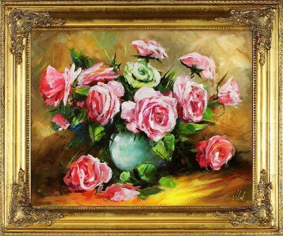 Ölgemälde Barock Bild Bilder Gemälde Ölbilder Ölbild Bilderrahmen Rahmen G16080
