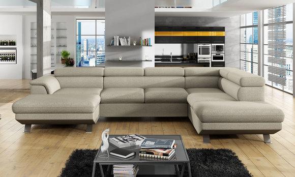 Ecksofa Schlafsofa Polster Eck Couch Garnitur Bettfunktion Leder