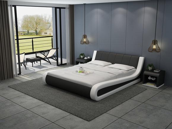 Leder Bett Design Polster Betten Luxus Doppel Hotel Ehe Big 140 160 180 LB8829