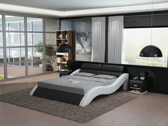 Leder Bett Design Polster Betten Luxus Doppel Modernes Ehe 140 160 180 LB8828