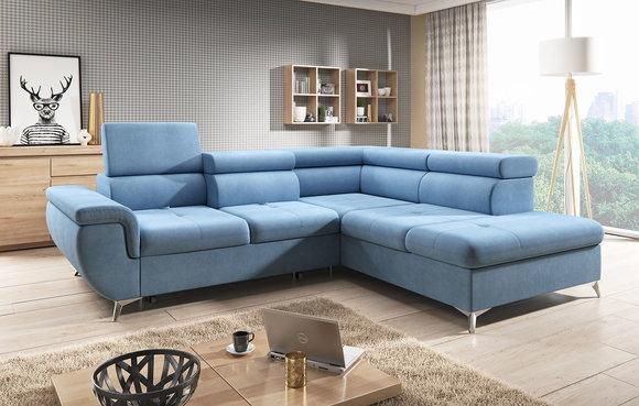 Wohnlandschaft design stoff  Stoff L-Form Couch Wohnlandschaft Ecksofa Garnitur Modern Design ...