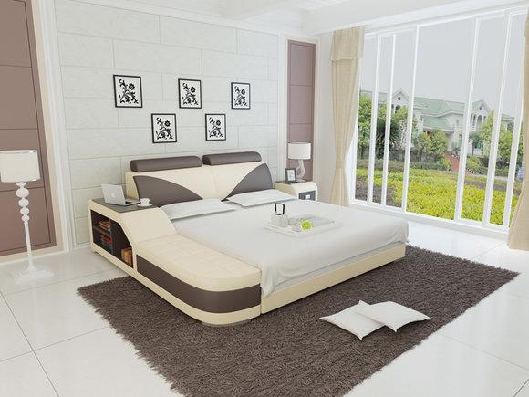 Designer Bett Polsterbett Luxusbett Doppelbett Ehebett Betten 140
