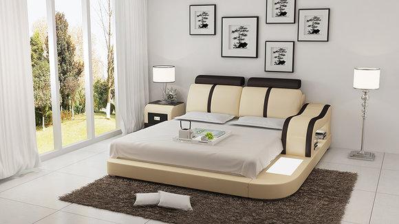 Bett Design Luxus Luxus Betten Leder Modernes Schlafzimmer 140 160