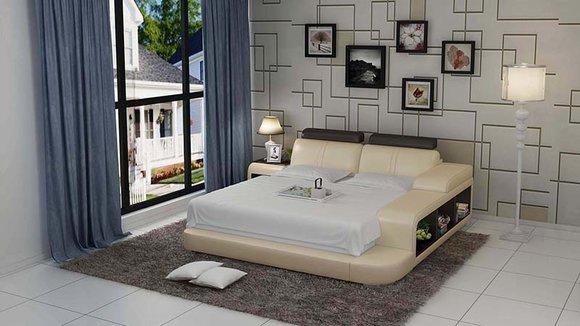 Bett Design Luxus Luxus Betten Leder Modernes Schlafzimmer 140/160 ...