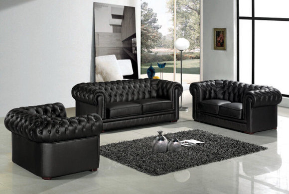 Details About Chesterfield Couch Polster Sofas Klassischer Leder