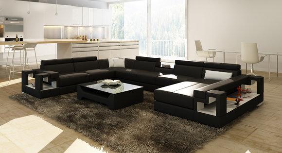 Xxl Big Wohnlandschaft Ledersofa Sofa Couch Polster Sofas Garnitur