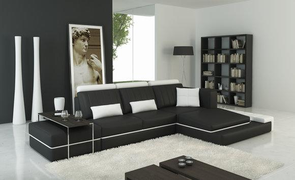 Moderne Wohnzimmer Ecksofa Couch Polster Eck Ledersofa Garnitur LForm Sofas  Sofa