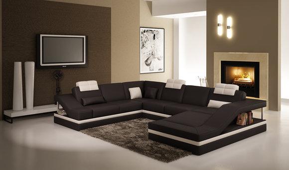 Moderne Wohnzimmer Ecksofa Wohnlandschaft Big XXL Leder Sofa Couch ...