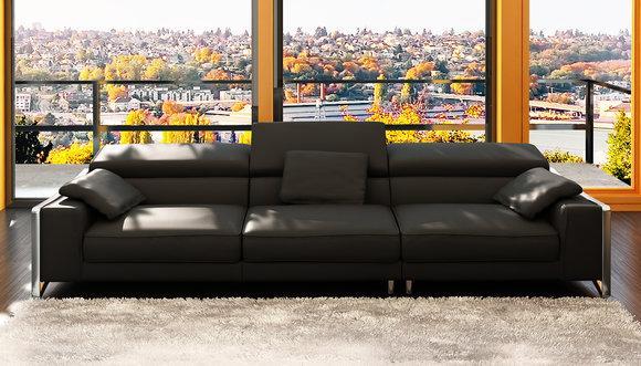 Design Ledersofa Sofa Couch Polster Ecke Sitz Garnitur