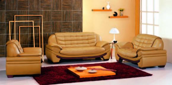 Sofagarnitur Couch Polster Leder Sofa Wohnzimmer Sitz 3+2+1 Set Garnituren  7174
