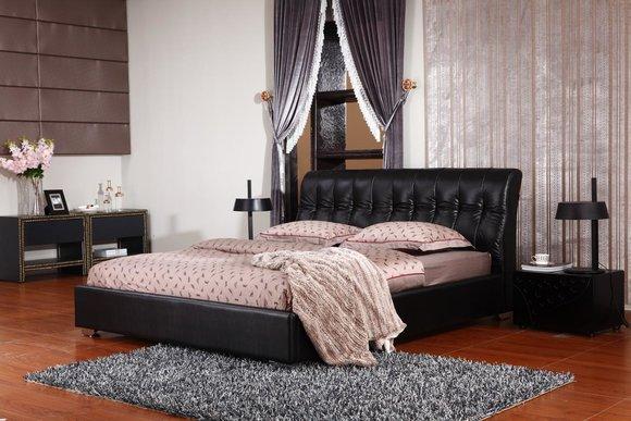 Designer Schlafzimmer Doppelbett Bett Betten Leder Hotel Luxus ...
