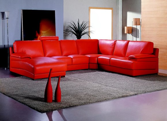 Ledersofa Wohnlandschaft Ecksofa Polster Eck Sitz Couch Garnitur U