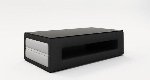 Design Glastisch Couchtisch Beistell Couch Sofa Tische Leder Polster