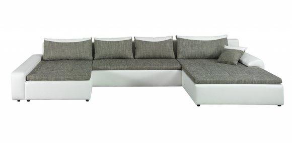 Wohnlandschaft Sofa Couch Polster Ecksofa U Form Garnitur Textil