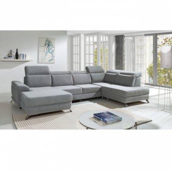Moderne Wohnlandschaft Couch Polster Sitz Eck Garnitur Sofas Couchen
