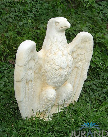 Gartenfigur Steinfigur Figur Garten Skulptur Steinguss Adler 59 Cm