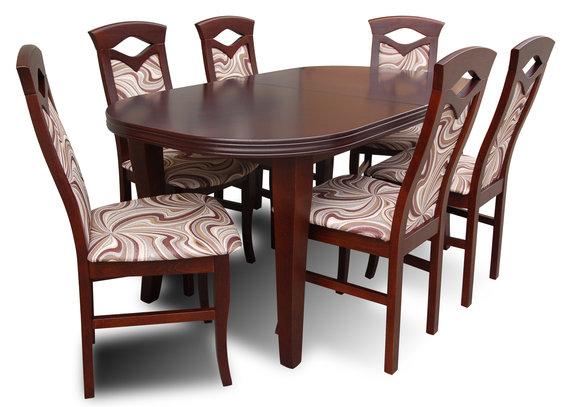 Designer Esstisch Gruppe 6 Stühlen Stuhl Tische Holz Tisch Büro