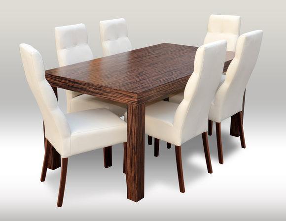 Designer Esstisch Tisch Mit 6 Stühlen Esszimmer Gruppe Stuhl Tische
