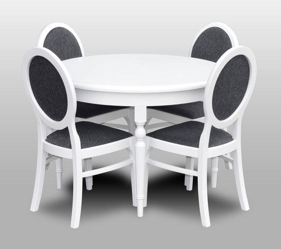 Klassischer Rund Runder Tisch Holz Design Tische Esszimmer 4