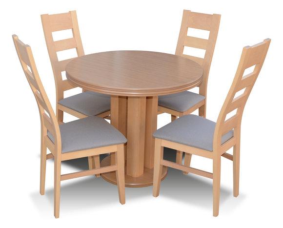 Klassischer Rund Runder Tisch Holz Design Esszimmer Tische 4