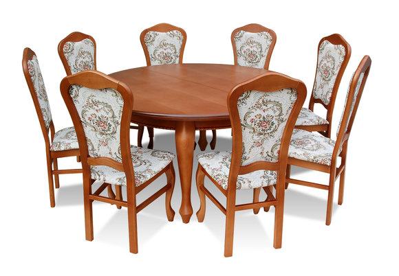 Esszimmer Tische Und Stühle | Klassischer Rund Runder Tisch Holz Design Esszimmer Tische 8