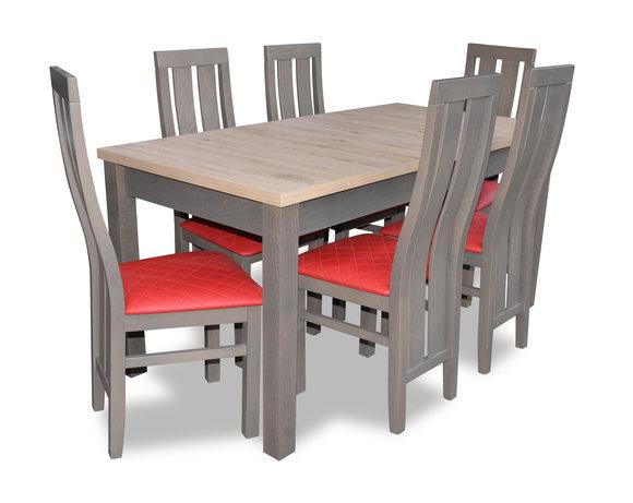 Esstisch Sitzgarnitur Tisch Stuhl Set Esszimmer Garnituren Design