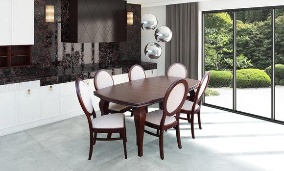 Esstisch 6 Stühle Sitzgarnitur Tisch Stuhl Set Esszimmer Garnituren