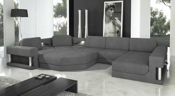 Modern Ecksofa Couch Polster Leder Design Sofa Garnitur
