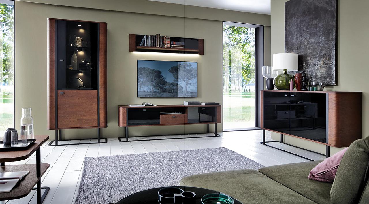 Hochwertiges Wohnzimmer Set Kommode Schrank Kommoden Sideboard Vitrine Garnitur