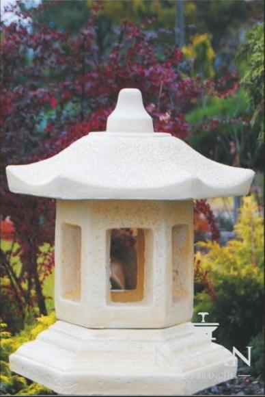 Außenleuchte Lampe Terrassen Stein Skulptur Leuchte Beleuchtung Laterne Garten