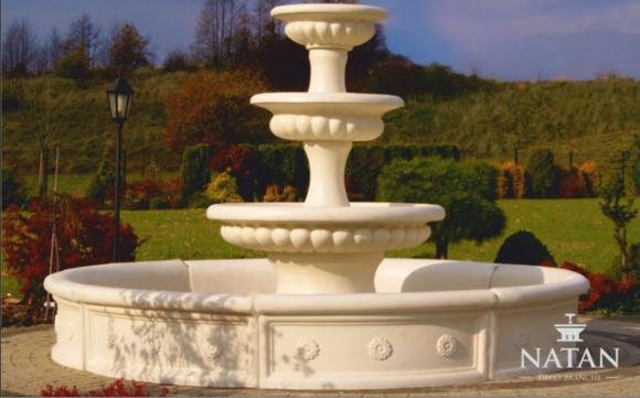 Becken für Zierbrunnen Skulptur Springbrunnen Brunnen Garten Fontaine Teich Neu