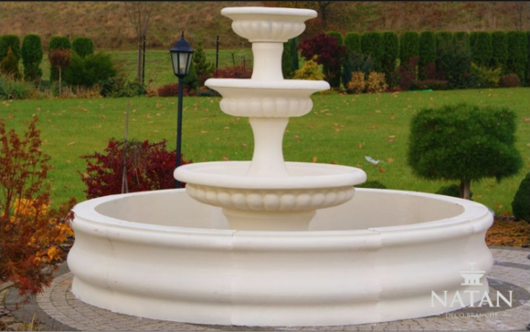Becken Garten Teich Zierbrunnen Springbrunnen Skulptur Brunnen Deko Fontaine Neu