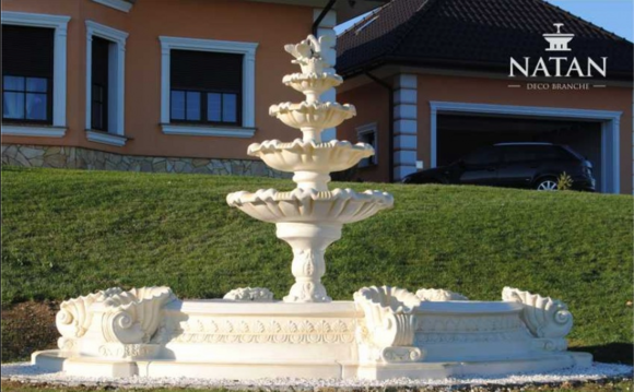 Becken Zierbrunnen Springbrunnen Skulptur Brunnen Garten Fontaine Teich Stadt