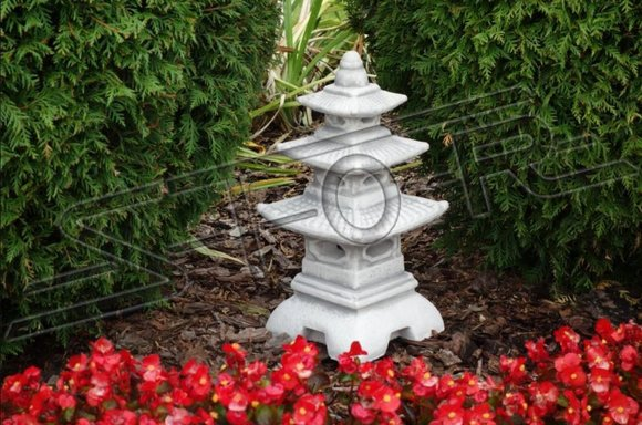 Japanischer Garten Lampen Dekoration Beleuchtung Vogel Tränke Figur Skulptur Neu
