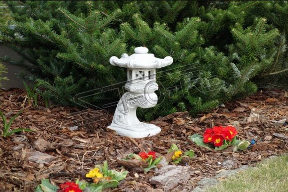 Japanischer Garten Dekoration Lampen Beleuchtung Vogel Tränke Figur Skulptur Neu