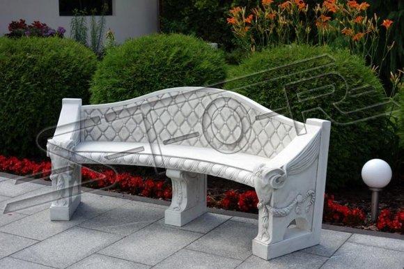 Antik Stil Bank Bänke Stein Garten Terrassen Möbel XXL Outdoor Bench Neu S205006