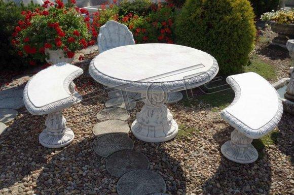 Antik Ritter Stil Tisch Garten Tische Stein Dekoration Rund Möbel Beton S105003