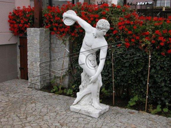 Diskobolos Statue Olympia Figur Garten Dekoration Figuren Skulptur Skulpturen
