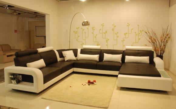 Ecksofa Polster Couch Sofa Wohnlandschaft Sitz Eck Garnitur Leder Textil H2209