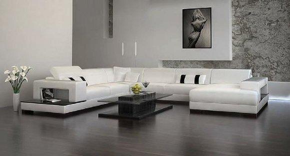 Wohnlandschaft Couch Polster Eck Garnitur Designer Ledersofa Big Sofa Neu 2689C