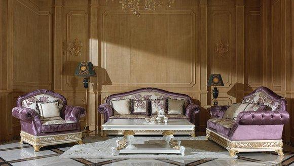 3 Sitzer Sofas Couch Sofa Polster Garnitur Königliche Barock Rokoko ohne 2+1