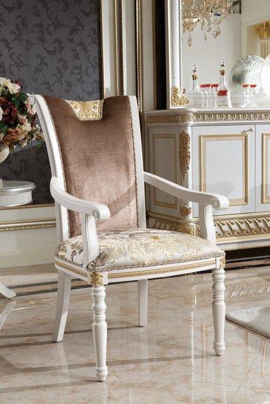 Barock Rokoko Esszimmer Sessel Stuhl Stil Set Antik E62 Thron Holz 1x Designer ordxeWCB