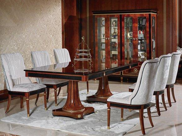 Rokoko Stil Neu Designer Antik Set Holz Barock Esszimmer Stuhl 6 Stühle Garnitur BodCxe